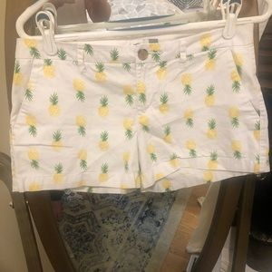 Pineapple white shorts